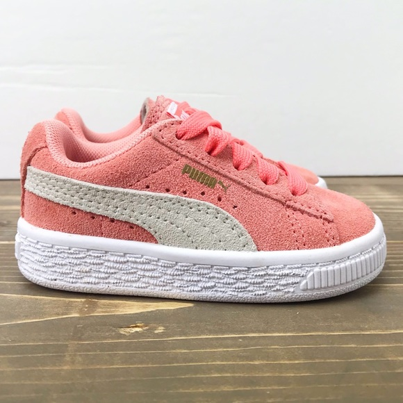 online store 16eec 1f3a3 Toddler Puma Suede Classic Sz 4C Coral